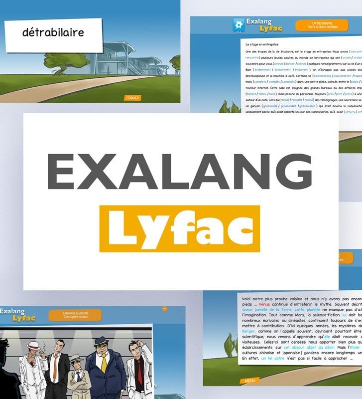Exalang LyFac, logiciel d'évaluation du langage oral et écrit chez le jeune adulte.