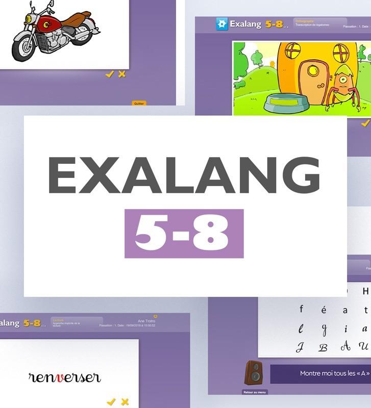 Logiciel Exalang 5-8 pour l'examen du langage oral et écrit chez l'enfant de 5 à 8 ans. Orthophonie