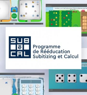 logiciel SUBéCAL subitizing, logiciel rééducation pour stimuler la cognition mathématique.