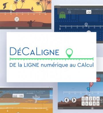 Logiciel DéCaLigne, logiciel rééducation cognition mathématique, logiciel dyscalculie. Patients enfants et adolescents.