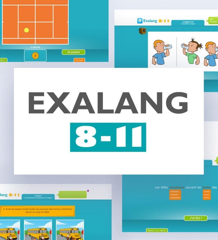 Exalang 8-11 logiciel d'évaluation du langage des 8 à 11 ans à destination des orthophonistes