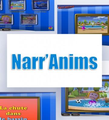 Narr'Anims, logiciel orthophonie, logiciel de rééducation, stimulation du langage en situation écologique. Patients enfants