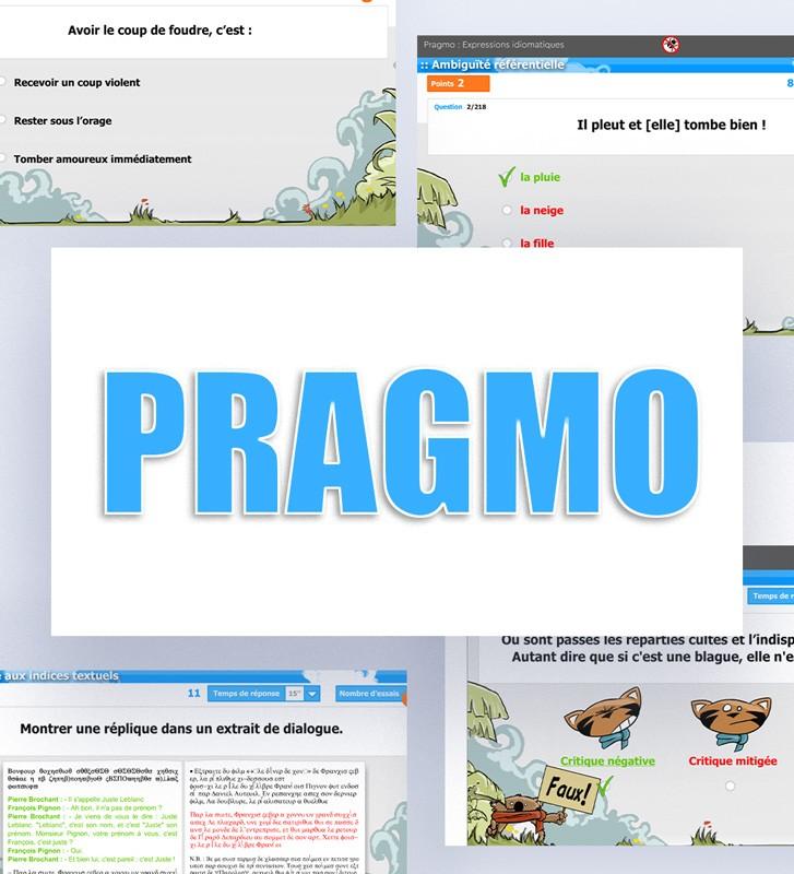 Pragmo, logiciel de rééducation du langage élaboré, langage oral et langage écrit. Patients enfants dès 10 ans et adultes.