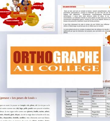 Logiciel Orthographe au Collège pour l'évaluation de l'orthographe chez les adolescents au collège.