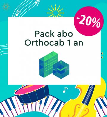 Pack 1 an - ORTHOCAB (50...