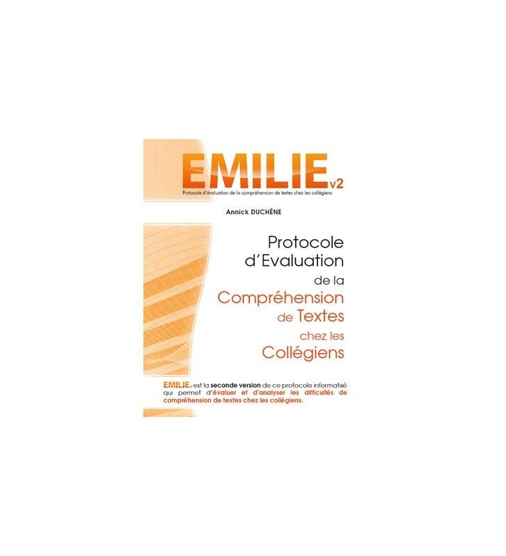 Emilie logiciel d'évaluation de la compréhension écrite chez le collégien.